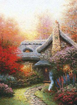 Kinkade - Autumn At Ashley's Cottage